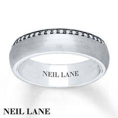 Neil Lane Mens Ring 1 5 Ct Tw Diamonds 14K Gold 65mm