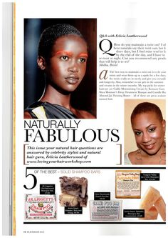 Natural Hair in Black Hair Mag. UK