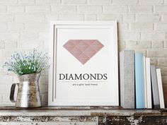On Fridays we like Diamonds   ____ NEW diamond print coming this weekend - what do you think? www.typebyme.com #typebyme