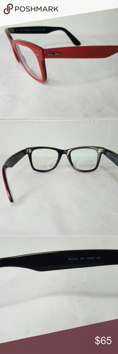 82694333aae RAY-BAN Red Wayfarer Sunglass frames Up for sale are a pre-owned pair