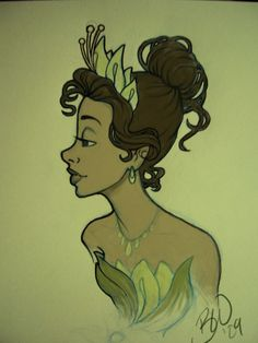 Princess of the Bayou sketchy by Lusc-Fire.deviantart.com on @DeviantArt
