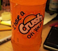 Cute Crush Quotes Bottle