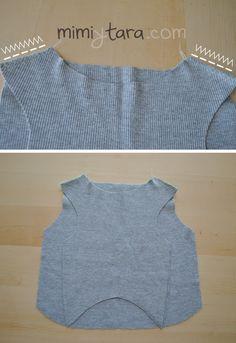 coser hombros sueter
