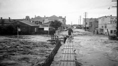 A selection of photos from the 1955 Maitland flood. Maitland Nsw, Night Terror, Newcastle Nsw, Family Night, Family Memories, Aerial View, Past, Music Sheets, Street View