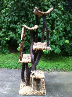 Hey, I found this really awesome Etsy listing at https://www.etsy.com/listing/156462450/rustic-unique-cat-tree
