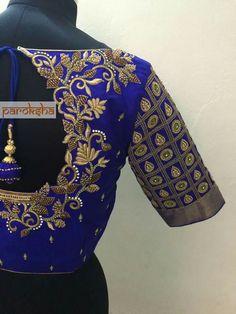 Maggam work blouse To order pls WhatsApp on 9618821933 Wedding Saree Blouse Designs, Pattu Saree Blouse Designs, Fancy Blouse Designs, Wedding Blouses, Cut Work Blouse, Aari Work Blouse, Maggam Work Designs, Bollywood, Chennai