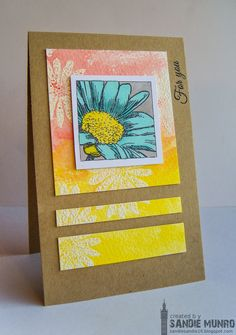 Card by Sandie using Boxed Blooms and Bold Sentiments