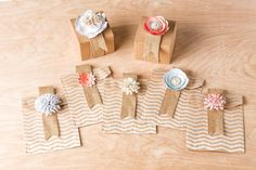 Here's a fun alternate use for Burlap and Blooms... Gift Packaging!