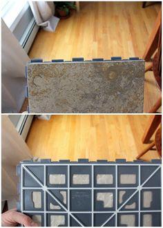 EcoSlate floor tiles ($7.99 / sq ft)   Master Bath Ideas   Pinterest ...