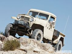 View 129 1301 Willys Pickup Front Three Quarter - Photo 41312110 from Desert Patina - 1959 Willys Pickup Old Jeep, Jeep Tj, Jeep Truck, Vintage Jeep, Vintage Trucks, Jeep Pickup, Pickup Trucks, Dodge Trucks, Lifted Trucks