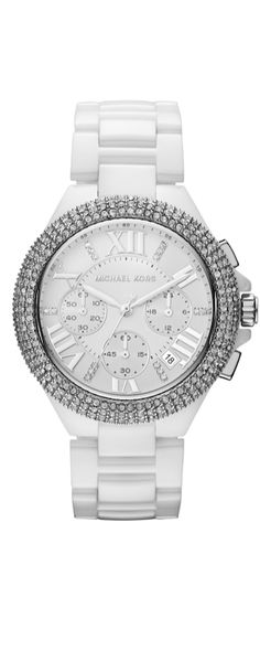 LOOK and LOVE with LOLO: It's an all silver, white and diamond Watch..... Michael Kors