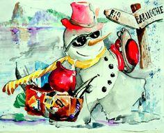 Concurso Rio-Bariloche-O melhor Boneco de Neve(eu NÃO ganhei,mas gostei de meu trabalho)