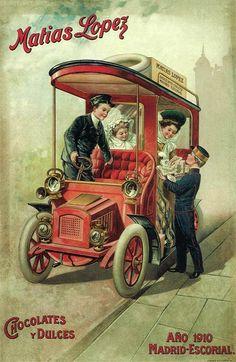 Matias Lopez 1910 x - Chocolate - Food Vintage Labels, Vintage Postcards, Vintage Ads, Vintage Images, Vintage Prints, Retro Advertising, Retro Ads, Vintage Advertisements, Art Through The Ages