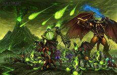 Enemies are coming! Wow fan art.