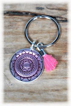 Schlüsselanhänger - Schlüsselanhänger Mandala lachs - ein Designerstück von DaiSign bei DaWanda
