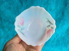 Mid Century Milk Glass Fruit Bowls by Diplomat Royale, Opal Ware Bowl Set