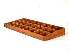 Esterbrook Pen Nib Display Box Slanted Wooden Sorting Tray
