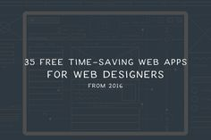 All released this year, these free web-based apps let you do so much without…