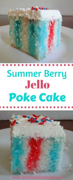 Jello Poke Cake This berry jello poke cake is a great addition to a Summer picnic or party. A cool, light tasting dessert. Poke Cake This berry jello poke cake is a great addition to a Summer picnic or party. A cool, light tasting dessert.This berry jello Poke Cake Jello, Poke Cake Recipes, Best Cake Recipes, Dessert Recipes, Top Recipes, Summer Cake Recipes, Summer Cakes, Easter Jello Cake, Recipes For Cakes