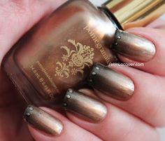 Bronze gradient nail art