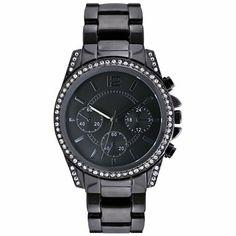 Crystal Accent Boyfriend Style Watch - jcpenney $34