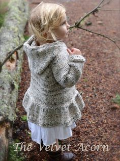 KNITTING PATTERN-The Cloudyn Sweater 2/3 4/5 por Thevelvetacorn