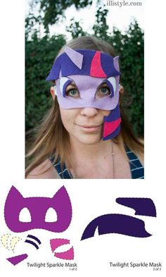 Twilight Sparkle DIY Mask and Printable Template - illistyle.com