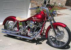 #custom red harley davidson