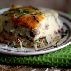 This hearty recipe can feed a crowd and is without a doubt the Best Reuben Casserole.  Corned beef and cabbage are sauteed in dark beer and topped with a homemade thousand island dressing before being sandwiched between two thick layers of mashed potatoes speckled with Swiss cheese.     What's your stance on Irish food?  Me?Read More