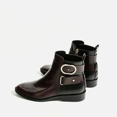 Image 7 of CONTRAST BUCKLE ANKLE BOOTS from Zara