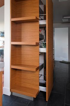 end pantry cabinet with shelving