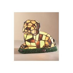 6c0294ccb12 Loxton Lighting Tiffany Dog Table Lamp with Brown and Cream Glass