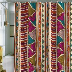"Valentina Ramos ""Ethnic Stripes"" Shower Curtain"