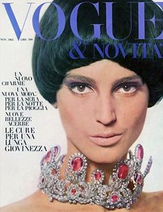 BENEDETTA BARZINI  Italian Vogue Cover    November 1965. This necklace!!!!!!!! #letsbringback #lulufrost