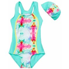 7076c447855a0 ZYZF Swimwear Swimsuit Baby Girls Pink Blue One-piece Bathing Suit Tankini  * Click image
