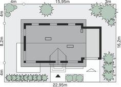 Sytuacja Dom przy Alabastrowej 6 CE Malm, Design Case, Floor Plans, Home Decor, House Ideas, Houses, Manualidades, Build House, Decoration Home
