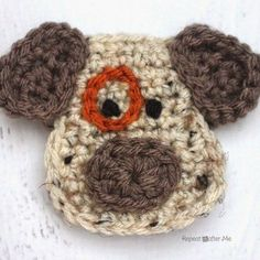 D is for Dog: Crochet Dog Applique