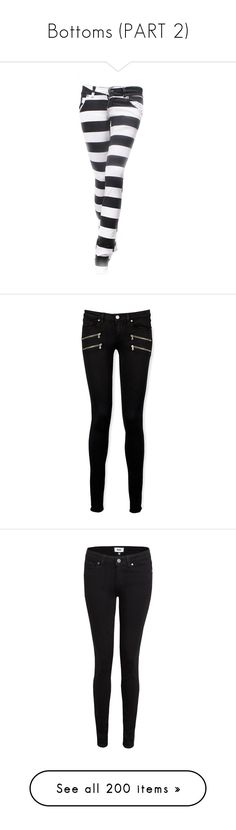 """""""Bottoms (PART 2)"""" by insanity-from-wonderland ❤ liked on Polyvore featuring jeans, pants, bottoms, calças, skinny jeans, stripe jeans, cut skinny jeans, denim skinny jeans, stripe skinny jeans and black shadow"""