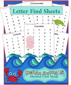Check out the newest post (Ocean Animals Unit Study: Find a Letter Worksheets) on 3 Boys and a Dog at http://3boysandadog.com/2014/08/ocean-animals-unit-study-find-a-letter-worksheets/?Ocean+Animals+Unit+Study%3A+Find+a+Letter+Worksheets