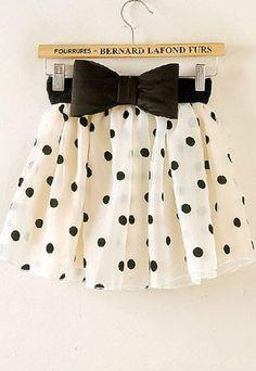 Bowknot Bubble Skirt.