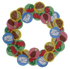Nutrition Paper Plate Wreath - Maybe for my September craft with the class?