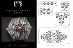 Another Version of the Puffy Star link : Beaded Jewelry, Beaded Bead, Beaded Ornaments, Bead Art, Beading Patterns, Geometry, Jewelry Making, Beads, How To Make