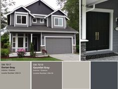 Modern and stylish exterior design ideas exterior designs grey exterior paint Grey Exterior, House Paint Exterior, Exterior House Colors, Exterior Design, Exterior Siding, Grey Siding House, Modern Exterior, Exterior Paint Colors For House With Stone, Outdoor House Paint