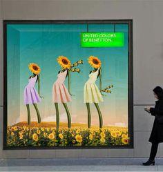 "My work for Benetton.  ""Sunflower mannequins"""