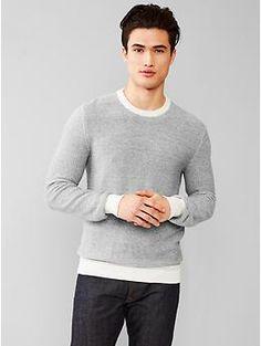 Textured crew sweater GAP