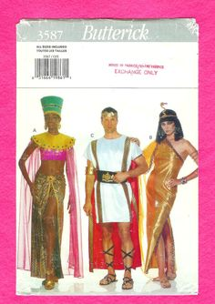 Butterick 3587 Costume Cleopatra and Mark Anthony All by lucysbud