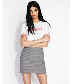 Woman/'s Camilla Grey Check Skirt