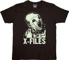 Amazon.com: X-Files The Fluke Man Black Adult T-shirt Tee: Clothing