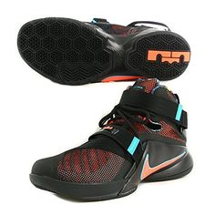innovative design ffd94 21b8c Nike LEBRON SOLDIER IX mens basketball-shoes 749417-084 11.5 - BLACK