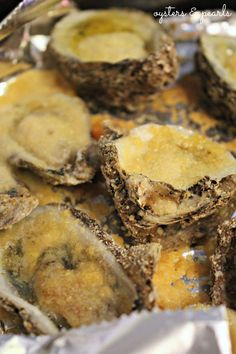 Garlic & Parmesan Oysters from Triple Tails Restaurant in Port St. Joe, Florida | Oysters & Pearls